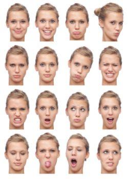 Het gezicht geeft de eerste weergave van onze gevoelens.
